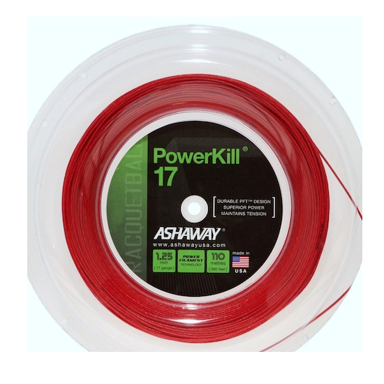 Ashaway Powerkill 17 Racquetball Strings Reel