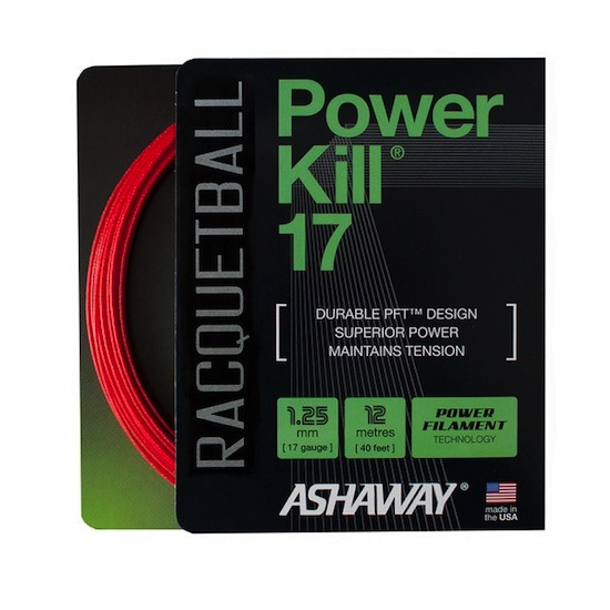 Ashaway Powerkill 17 Racquetball Strings Set