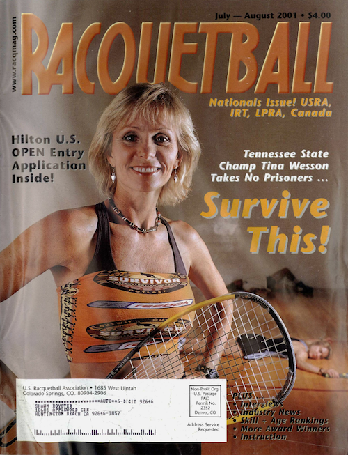 Racquetball - July August 2001