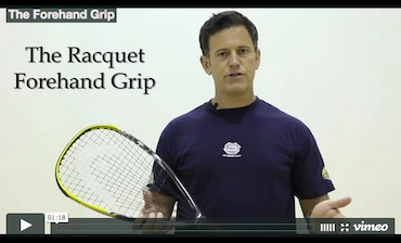 Forehand Grip - Intro to Racquetball Video Series