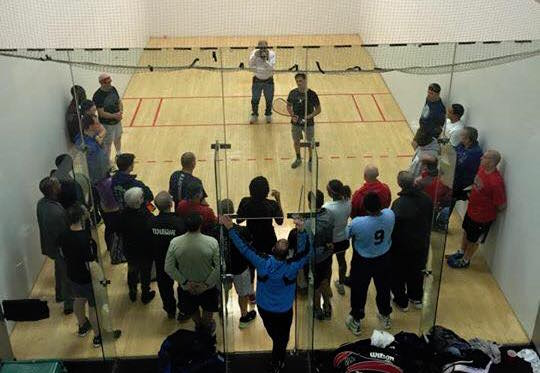 Cliff Swain Racquetball Clinic 2015